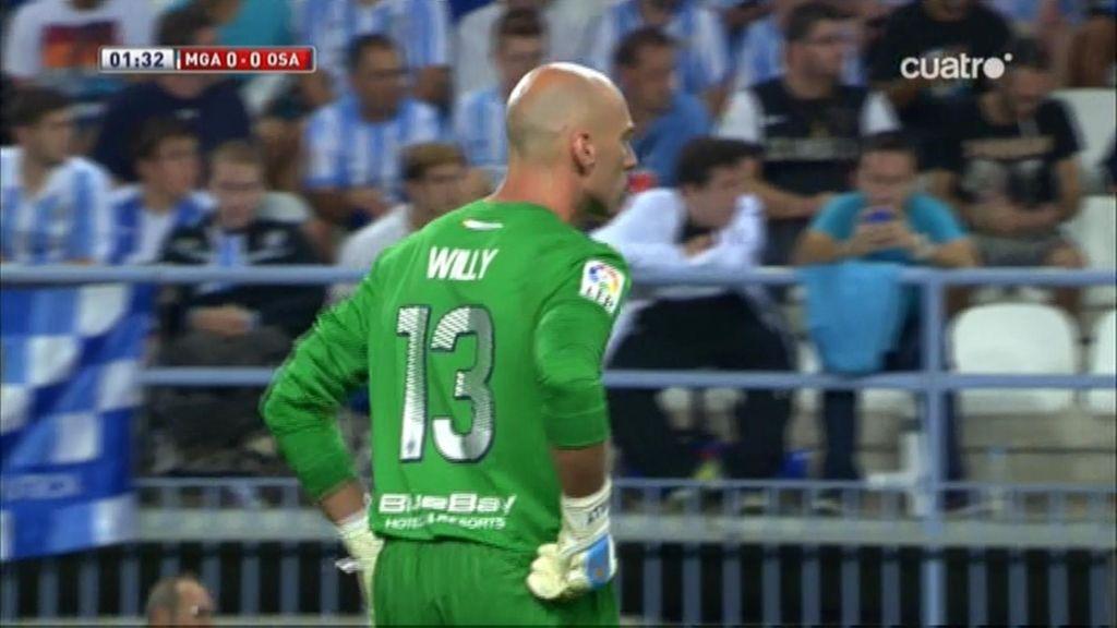 Willy Caballero salva al Málaga