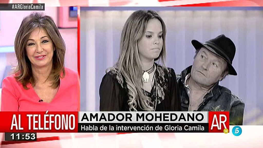 """Amador Mohedano: """"Gloria Camila es muy sincera pero no tiene rencor a nadie"""""""