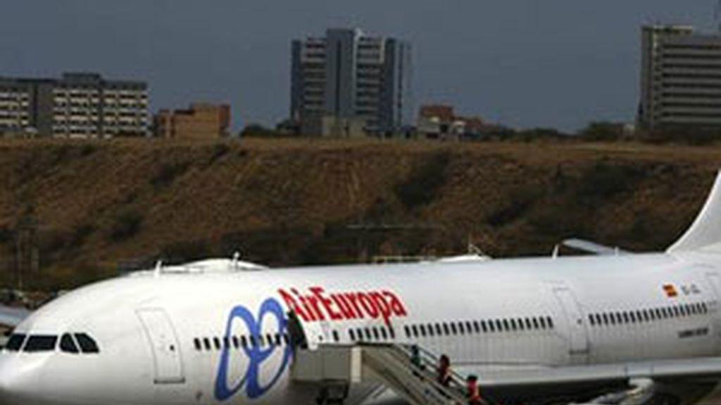 Un avión de la compañía Air Europa. Foto: EFE