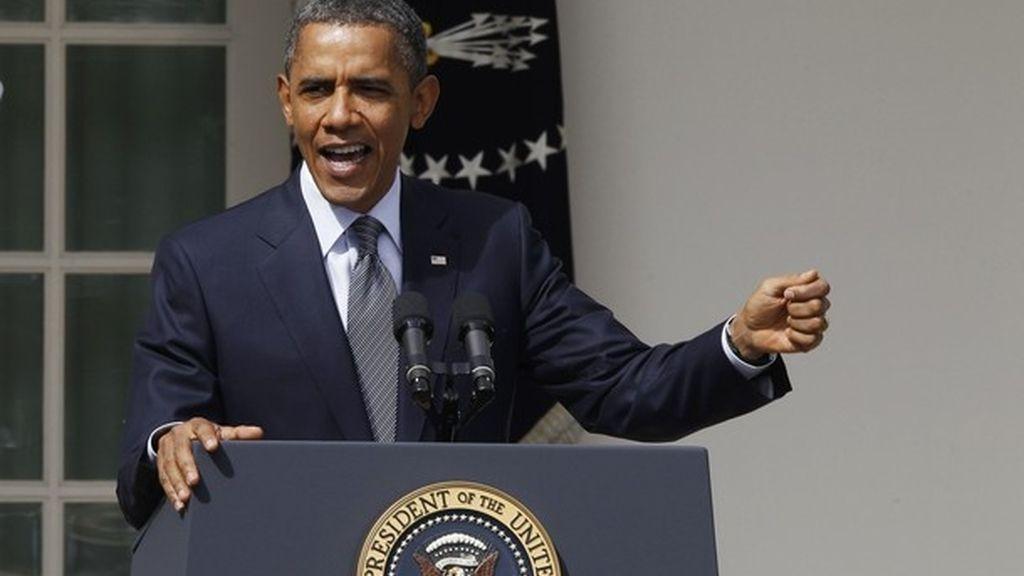 El presidente de Estados Unidos, Barack Obama, pronuncia un discurso desde los jardines de la Casa Blanca en Washington DC, Estados Unidos