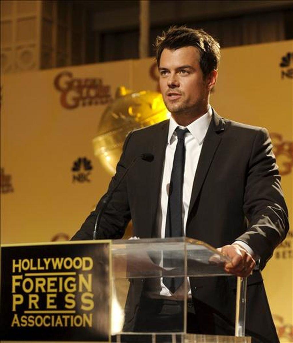 El actor estadounidense Josh Duhamal anuncia las nominaciones de la sexagésimo octava edición de los Premios Globos de Oro, que ha tenido lugar en Beverly Hills, Estados Unidos, este 14 de diciembre. EFE