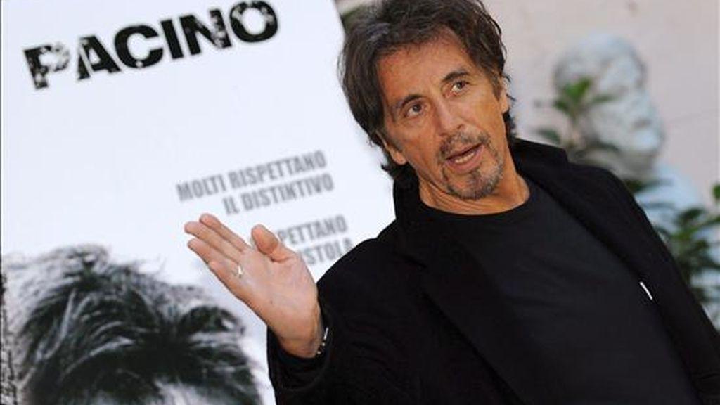 Fotografía de septiembre de 2008 en la que se ve al actor estadounidense Al Pacino, quien encarnará en una película los últimos cinco años de vida del emperador francés Napoleón Bonaparte. EFE/Archivo