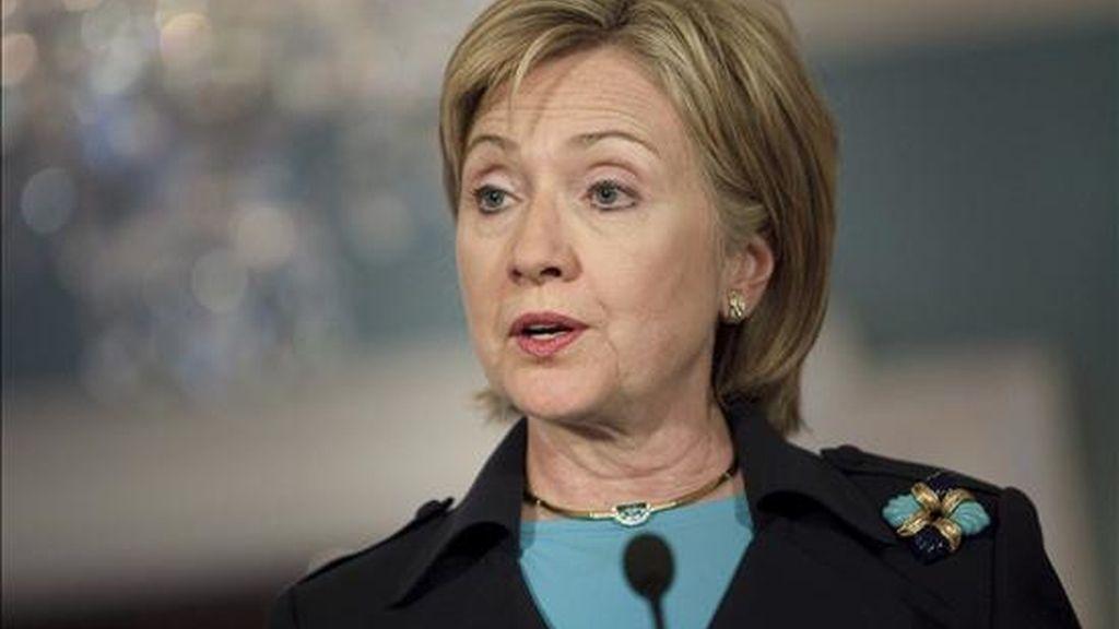 """La secretaria de Estado, Hillary Clinton, dijo que la respuesta de la península norcoreana es """"innecesaria"""", teniendo en cuenta que la declaración de la ONU es """"legítima"""". EFE/Archivo"""