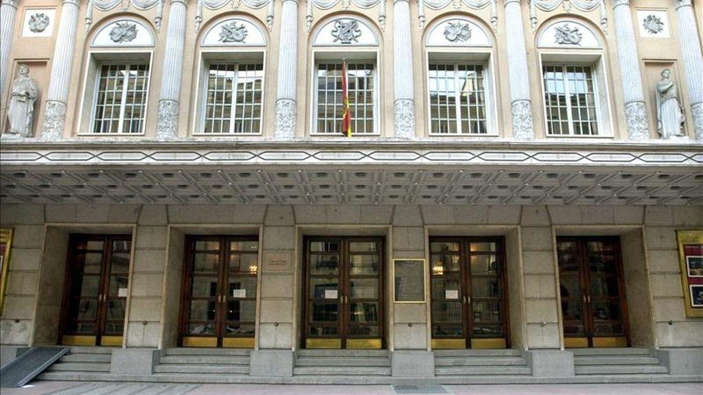 Fachada del Teatro de la Zarzuela, Madrid. EFE/Archivo