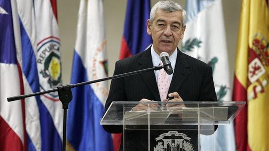 El representante de la OEA José Octavio Bordón, durante la inauguración del Encuentro Internacional de Administradores de Registro Civil, Identidad y Migración, que se desarrolla en Santo Domingo (República Dominicana). EFE