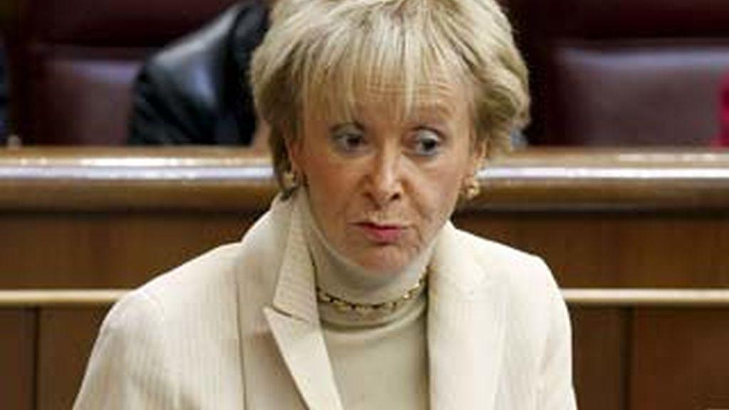 La vicepresidenta del Gobierno, María Teresa Fernández de la Vega. Foto: EFE