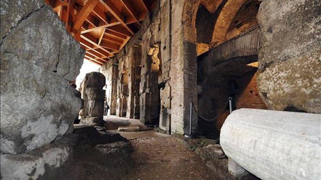 Vista de las galerías subterráneas del Coliseo de Roma (Italia). EFE/Archivo