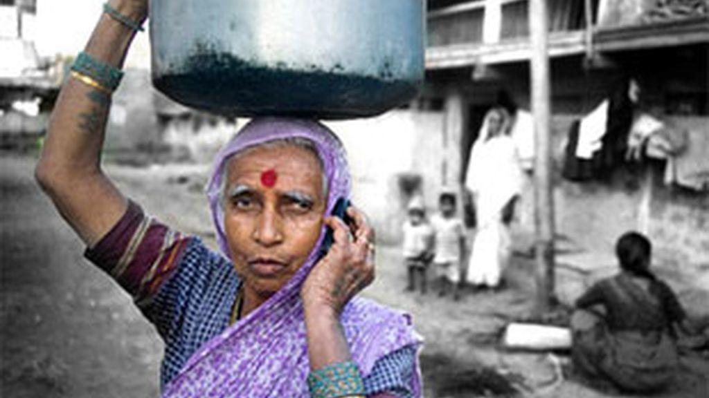 El 45% de la población tiene móvil en la India.