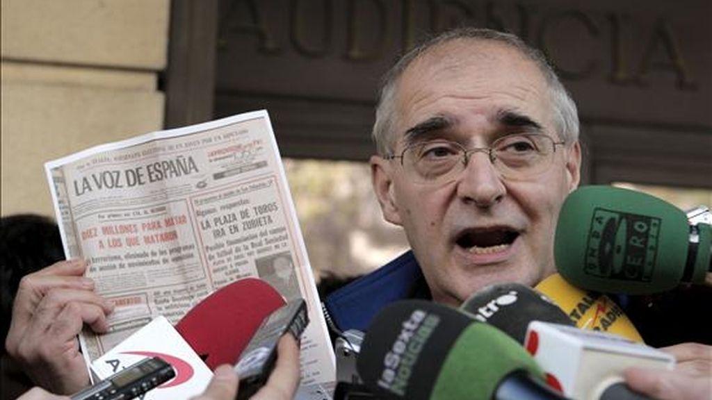 """El ex dirigente de ETA Eugenio Etxebeste """"Antxon"""" ha dicho hoy que """"la lucha armada ha tocado techo"""" y no porque haya """"fracasado"""", sino porque """"ha aportado todo lo que tenía que aportar en un momento determinado"""". EFE/Archivo"""