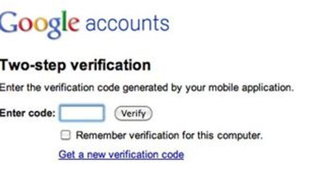 El doble proceso de autentificación dará más seguridad a los usuarios que accedan a las aplicaciones en la nube. Foto Google