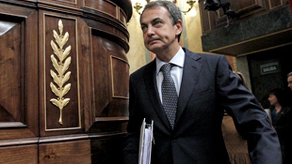 """Zapatero ha explicado que """"nadie puede tomar como rehenes al conjunto de los ciudadanos"""". FOTO: EFE"""