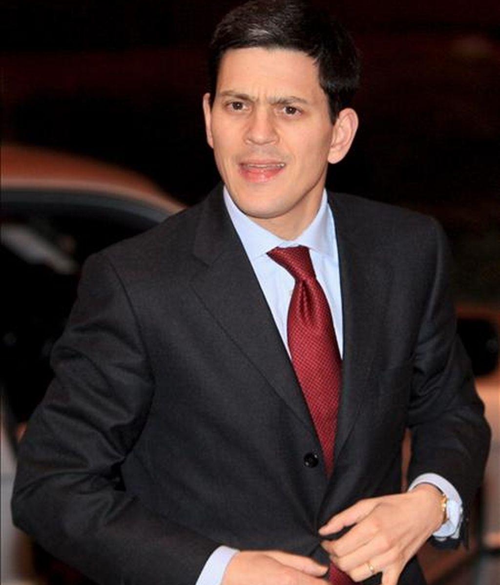 El ministro de Asuntos Exteriores británico, David Miliband. EFE