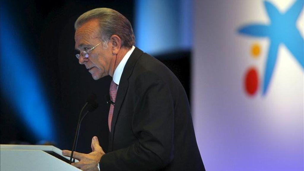 El presidente de La Caixa, Isidre Fainé. EFE/Archivo