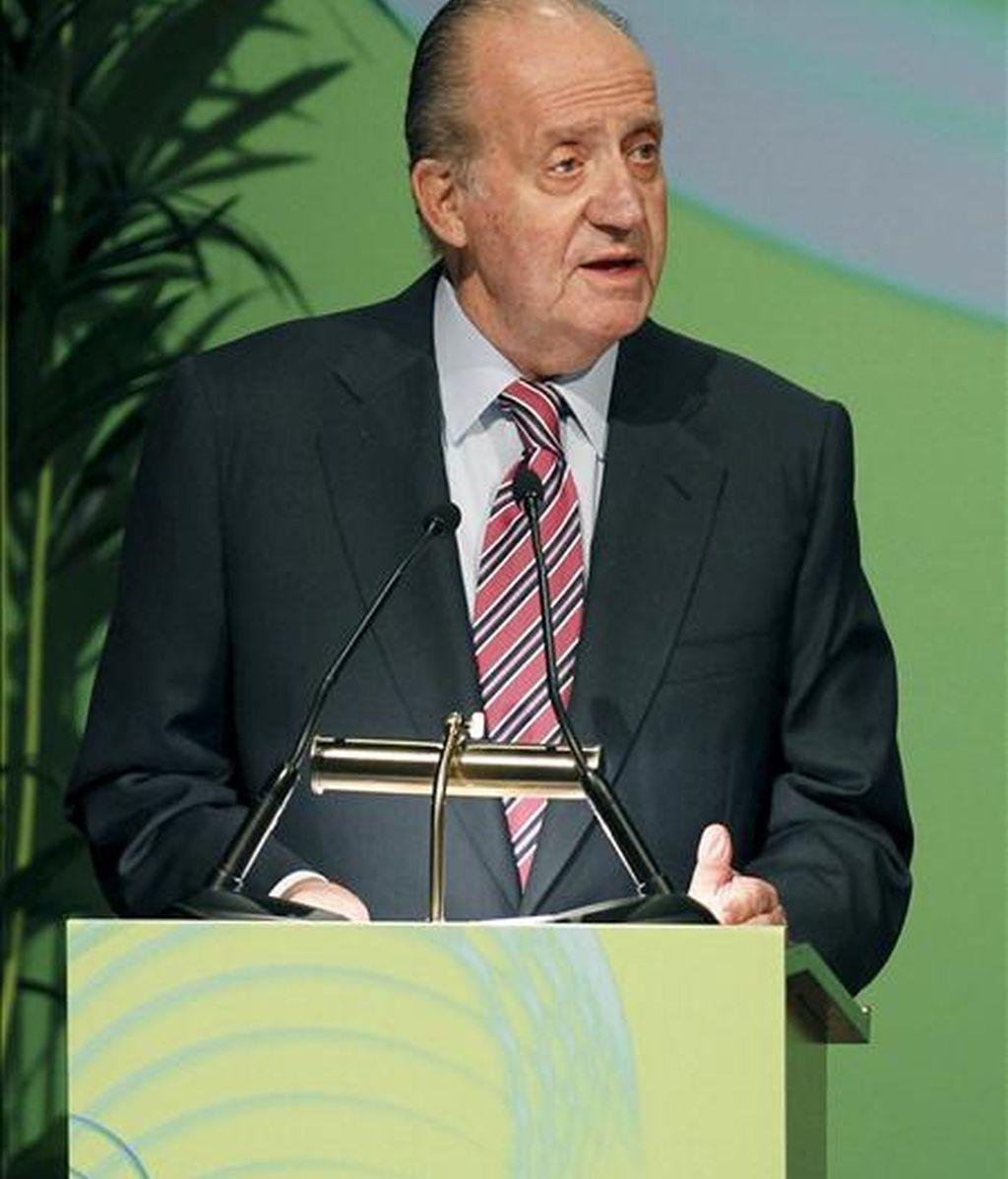 El Rey durante una reunión de la asamblea de Cotec. EFE/Archivo