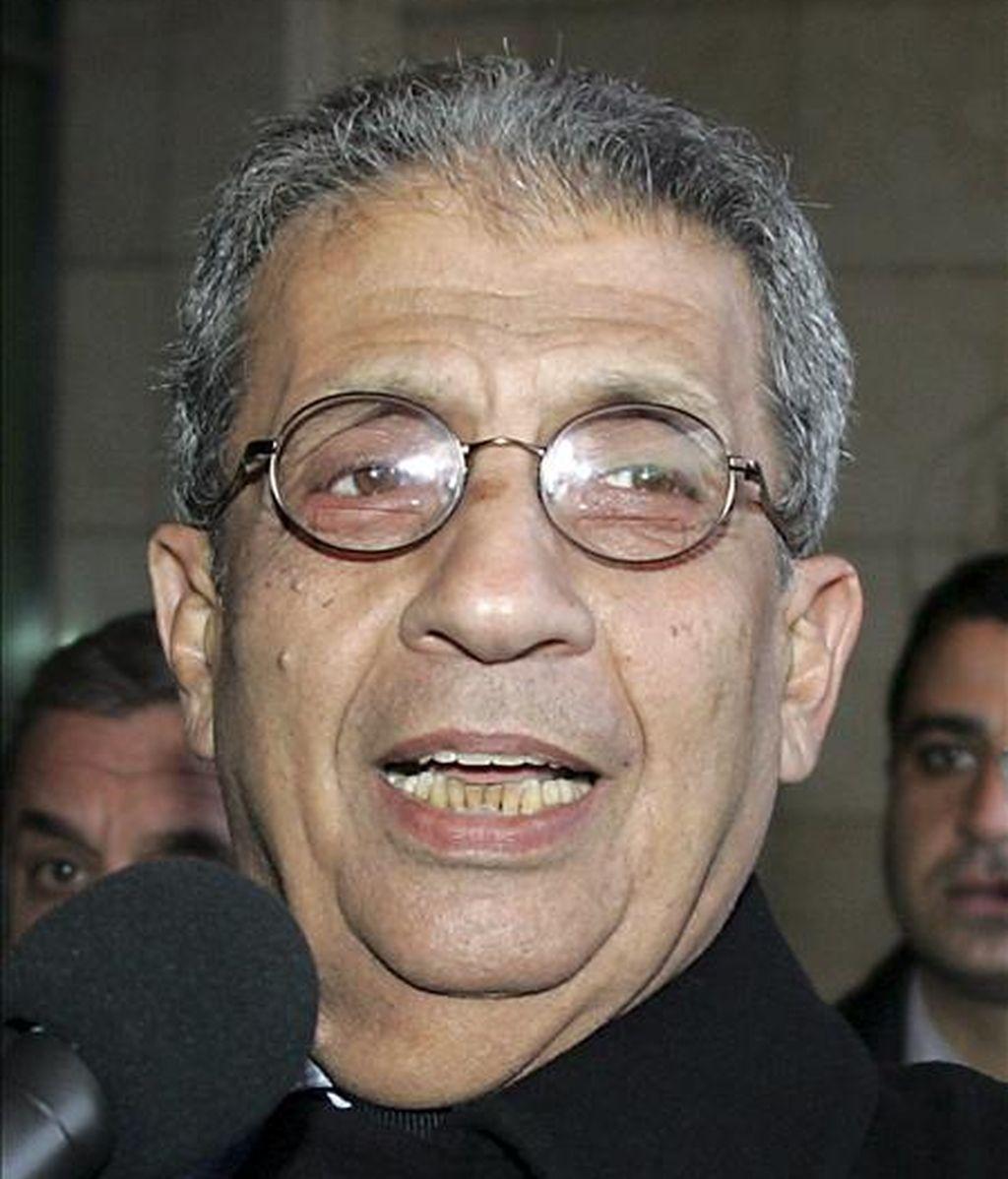 El secretario general de la Liga Árabe, Amro Musa. EFE/Archivo