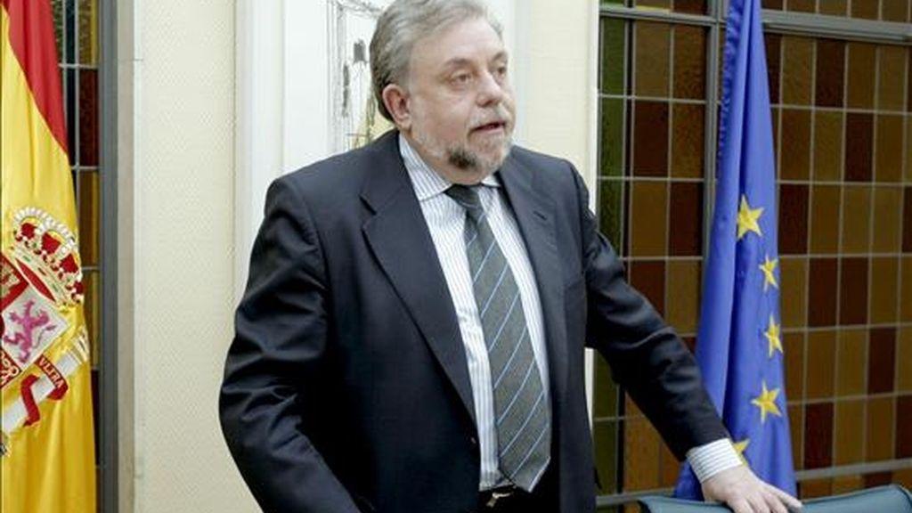 El secretario de Estado de Seguridad Social, Octavio Granado antes de presentar el cierre del ejercicio 2008 de la Seguridad Social, hoy en el Ministerio de Trabajo. EFE