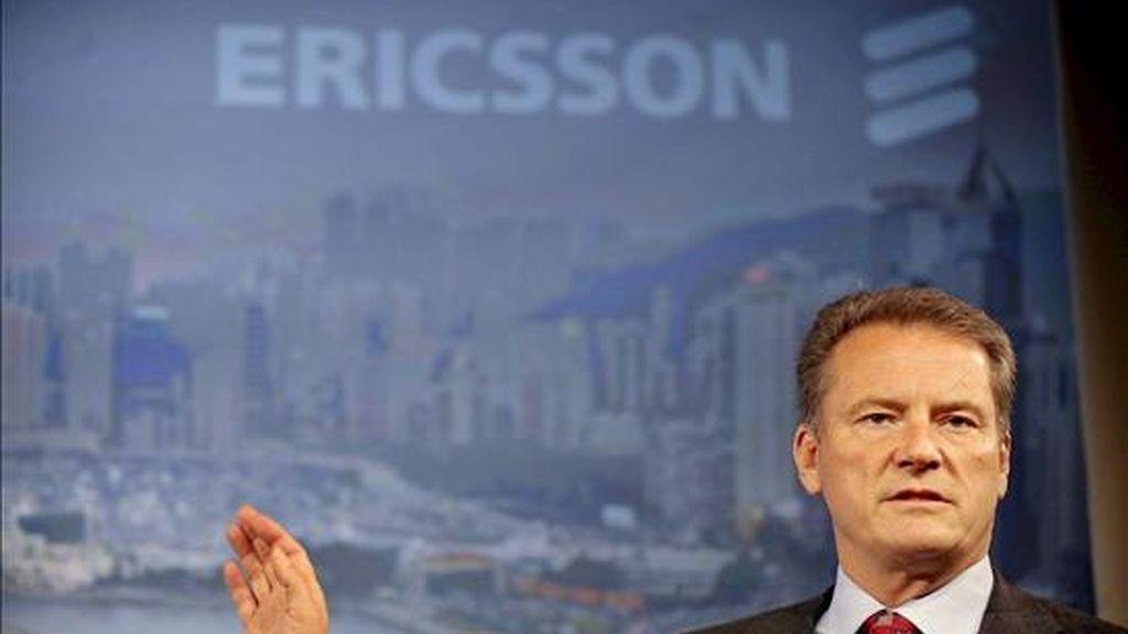 El presidente y director ejecutivo del fabricante de equipos de telecomunicaciones sueco Ericsson, Carl-Henric Svanberg. EFE/Archivo