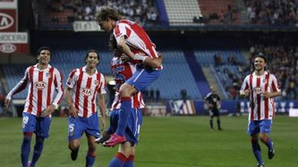 El Atlético festeja un gol. Foto: Gtres