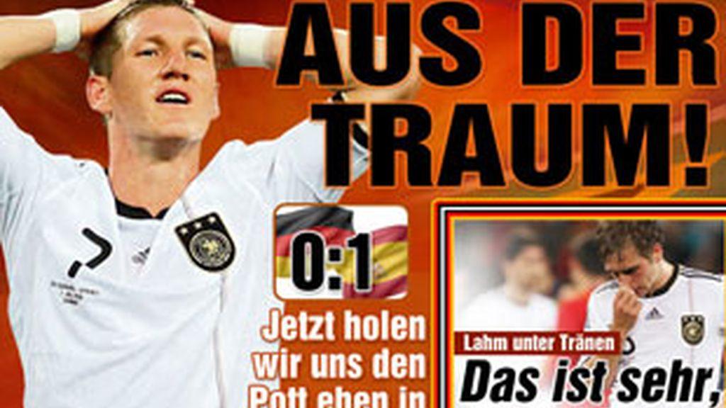 La prensa alemana reconoce que España fue mejor. Foto: Bild
