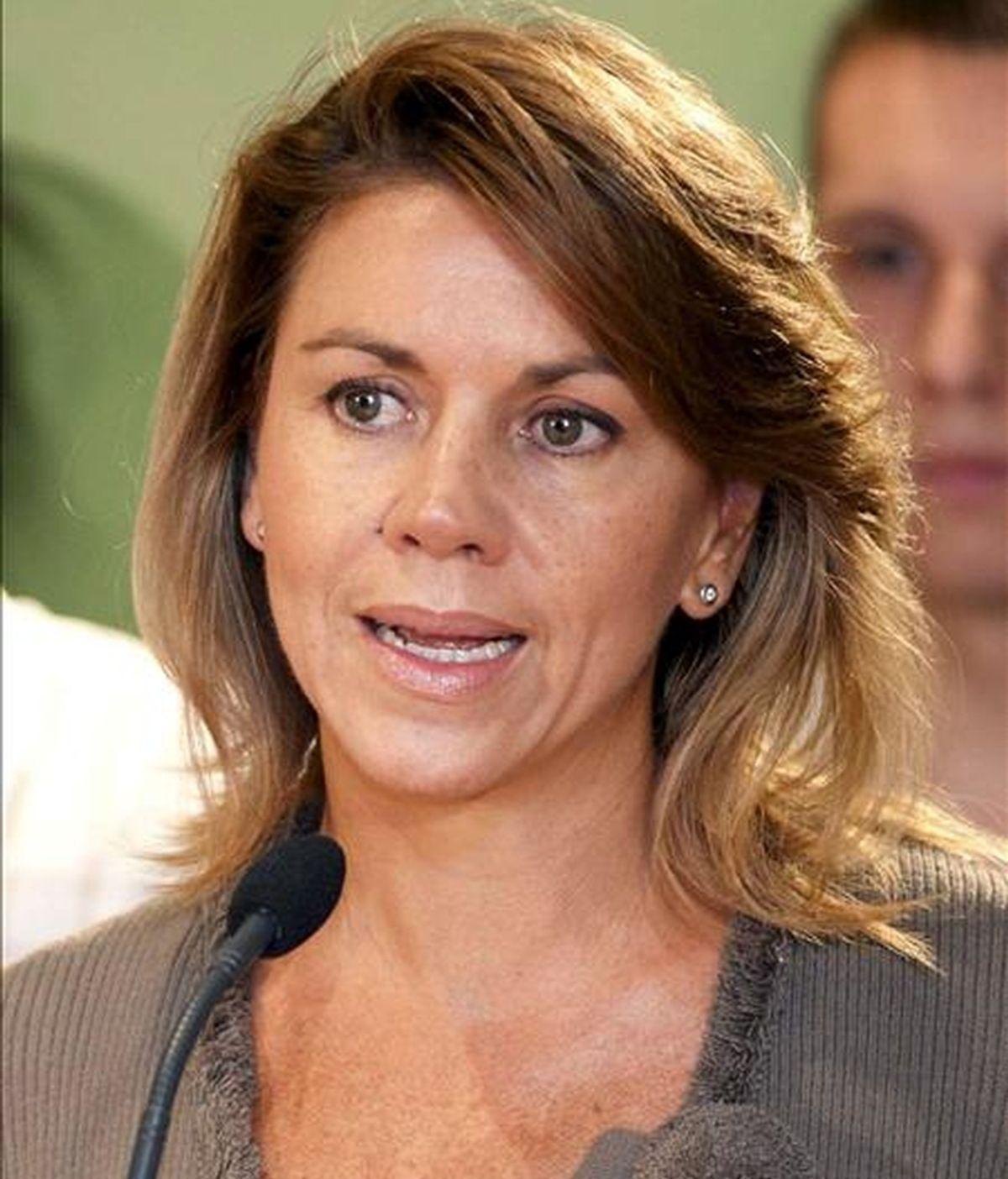 La presidenta del PP de Castilla-La Mancha y secretaria general nacional, María Dolores Cospedal. EFE/Archivo