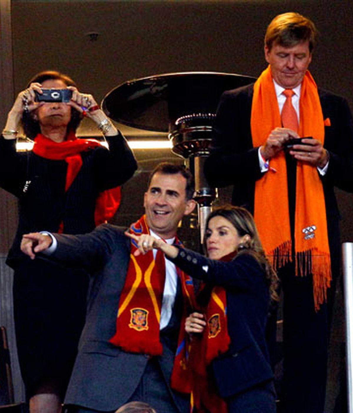 El Priíncipe Felipe disfrutó en directo de la victoria de España