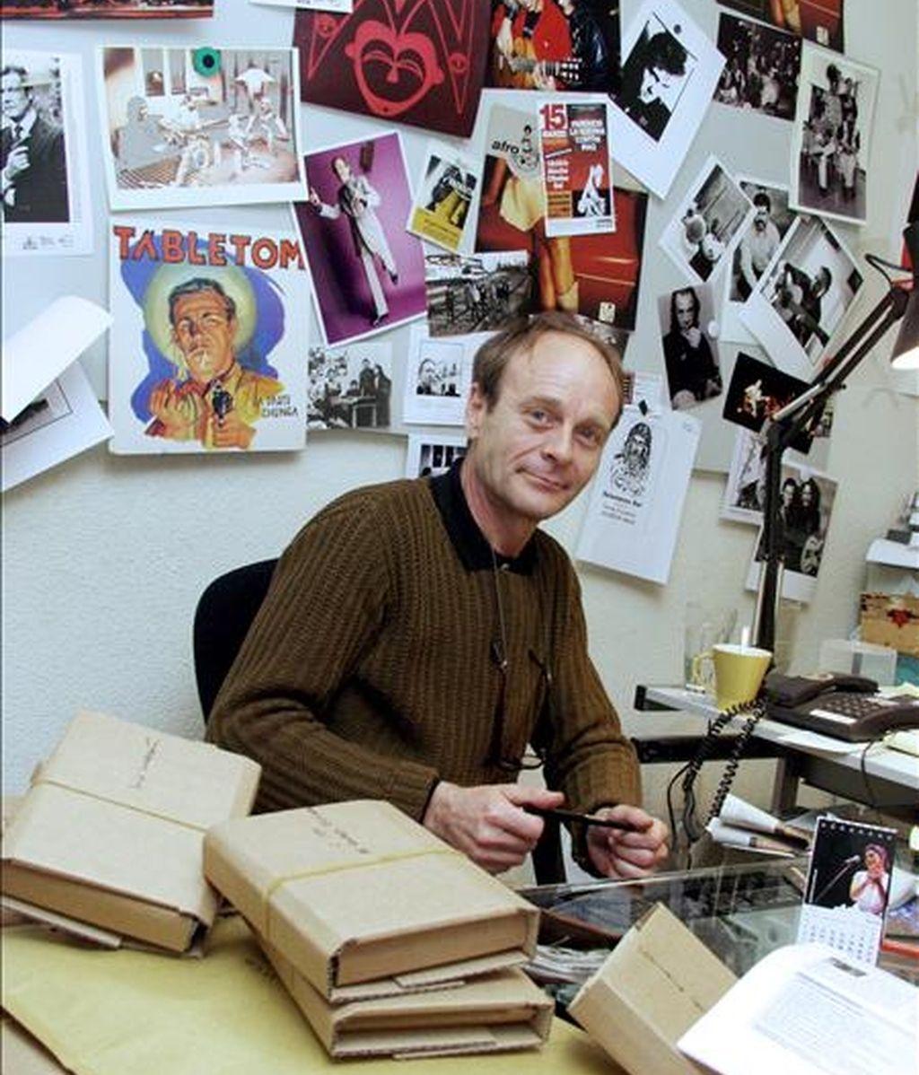 Fotografía facilitada por Nuevos Medios del productor musical Mario Pacheco, fundador de esa casa discográfica, que ha fallecido hoy en Madrid a los sesenta años después de padecer una larga enfermedad. EFE/