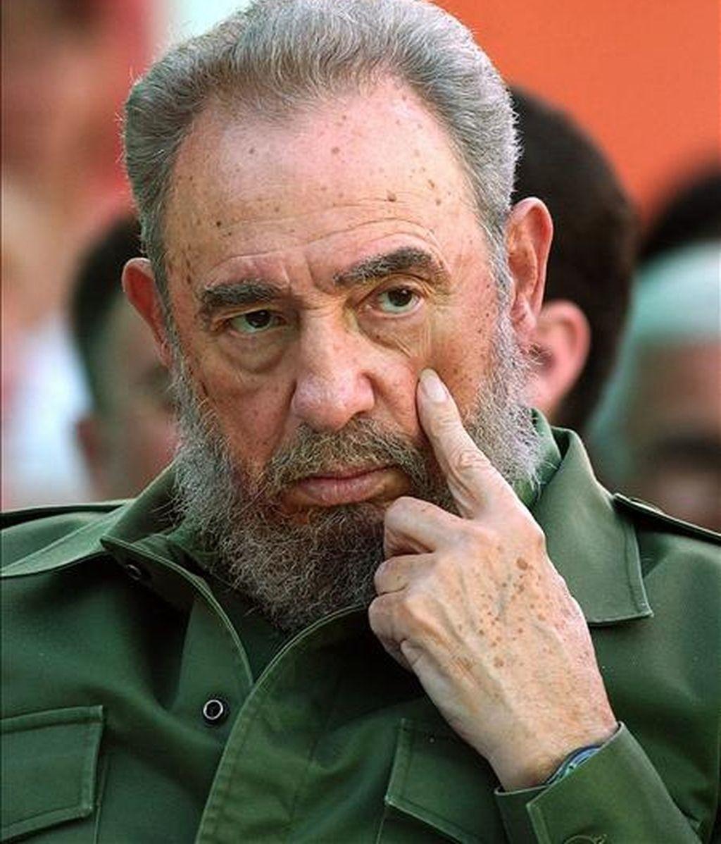 """Castro dice que Obama """"dedicó sólo 15 palabras al papel de la URSS, apenas 1,2 por cada 2 millones de ciudadanos soviéticos que murieron en aquella guerra"""", y afirma que eso """"no fue justo"""". EFE/Archivo"""