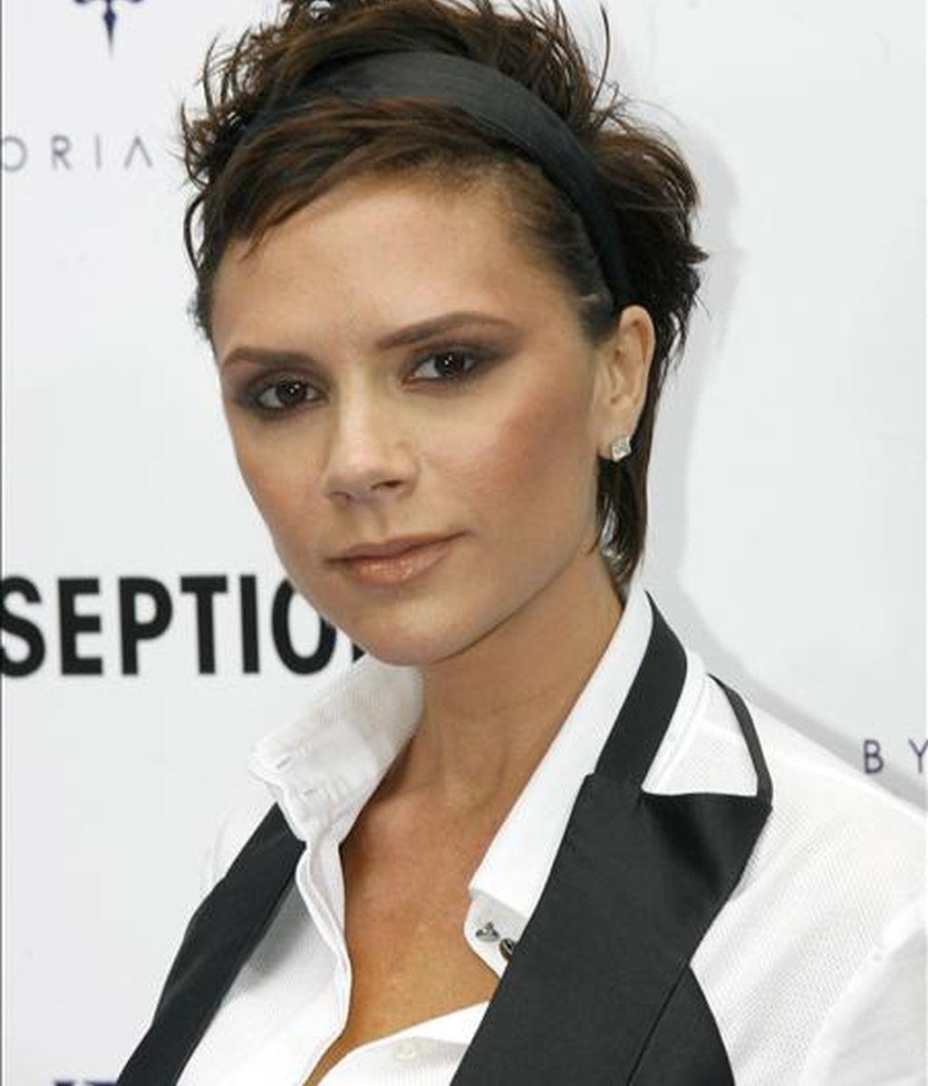 """La ex Spice Girl Victoria Beckham, posa durante la presentación de su colección de moda """"dVb Denim"""" para Ekseption, en octubre pasado, en Madrid. EFE/Archivo"""