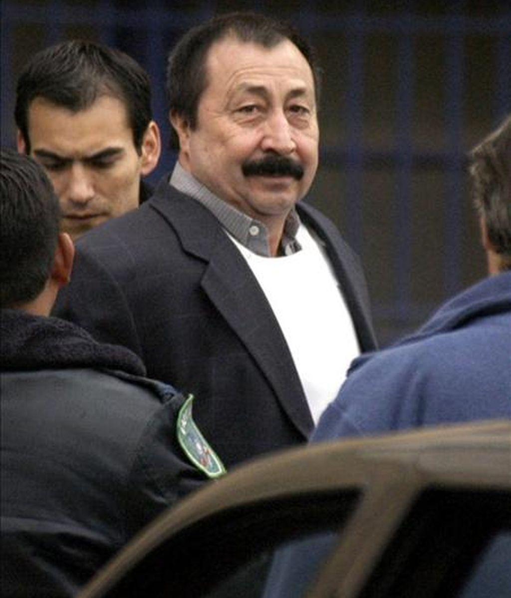 Apablaza, ex líder de la guerrilla Frente Patriótico Manuel Rodríguez, es acusado de ser el autor intelectual del homicidio en 1991 del senador derechista Jaime Guzmán, considerado ideólogo del régimen de Augusto Pinochet . EFE/Archivo