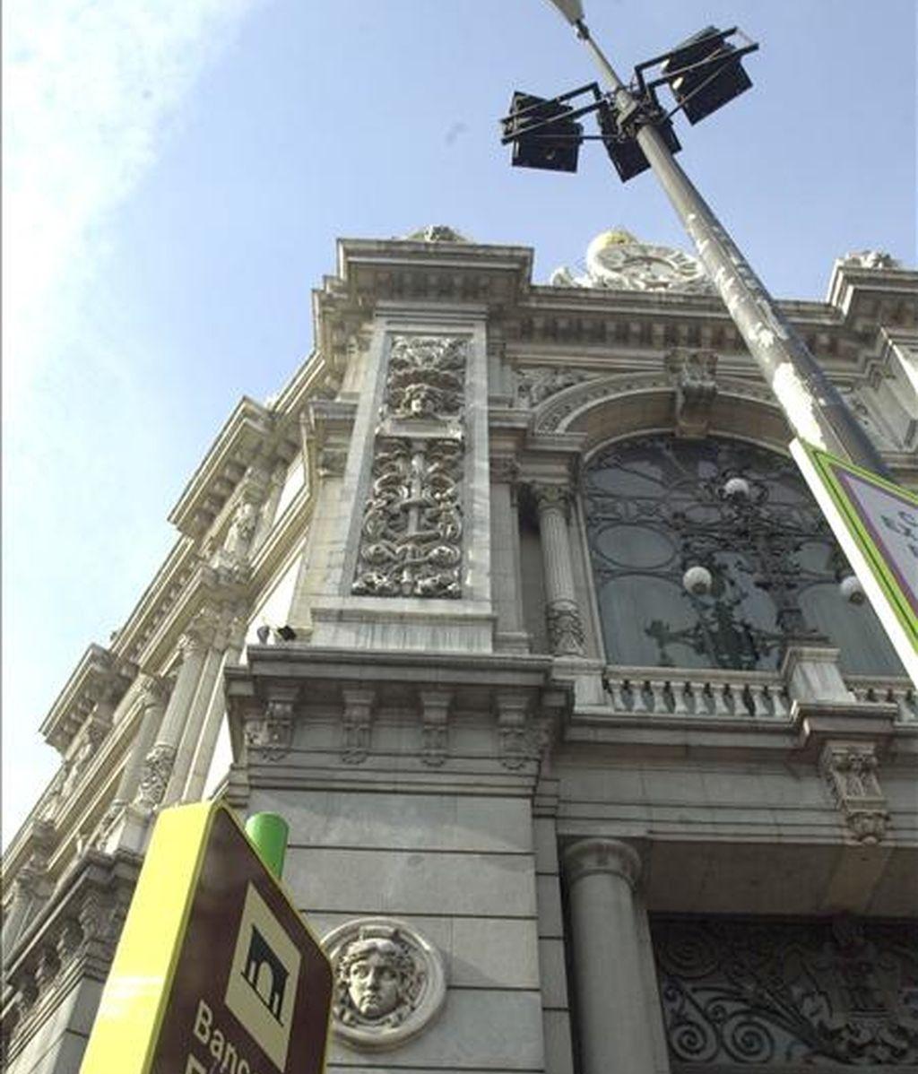 Fachada del Banco de España en la madrileña Plaza de Cibeles. EFE/Archivo