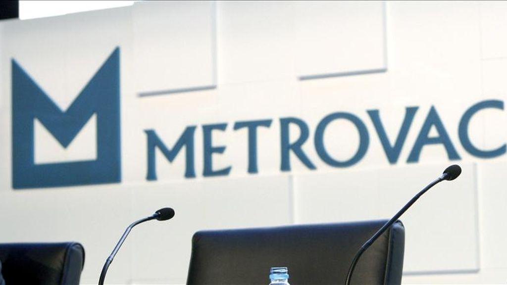 Logotipo de la inmobiliaria Metrovacesa antes de una Junta General Ordinaria. EFE/Archivo