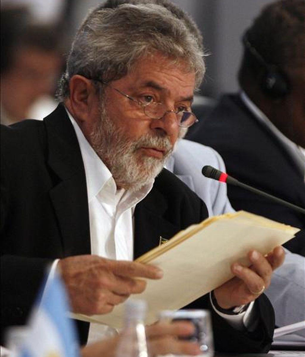 """El presidente de Brasil, Luiz Inácio Lula da Silva, sostuvo que Argentina, Brasil, Uruguay y Paraguay """"supieron garantizar los puestos de trabajo durante la crisis internacional"""" que se desató en 2008  EFE/Archivo"""