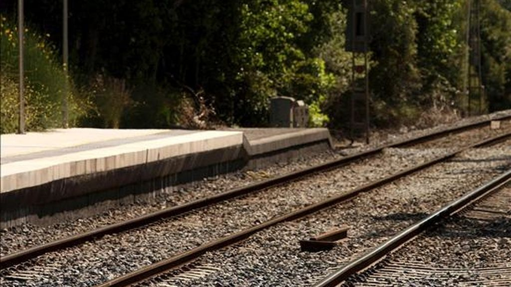 Vías de un tren tras un accidente. EFE/Archivo