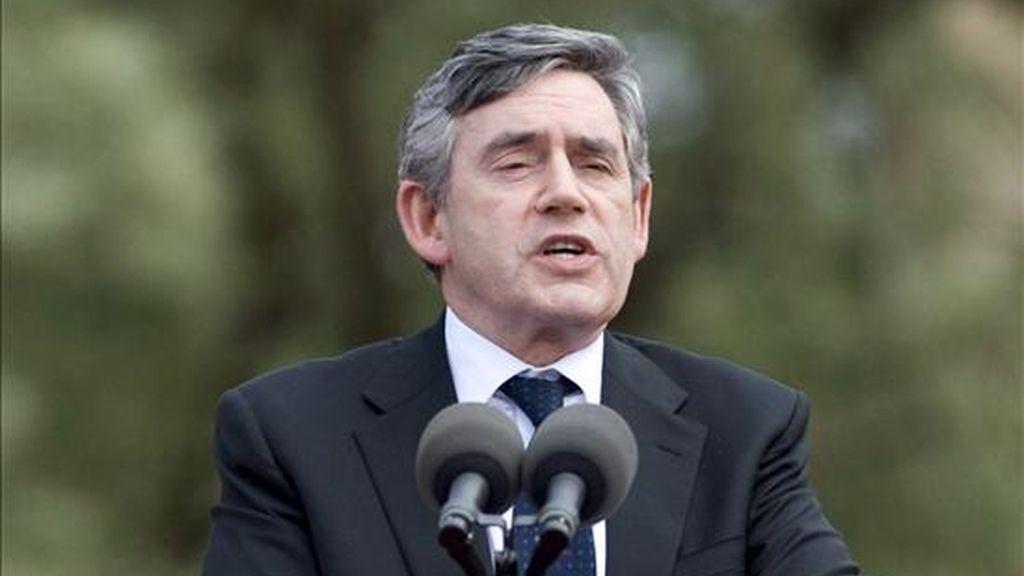 El primer ministro británico, Gordon Brown. EFE/Archivo
