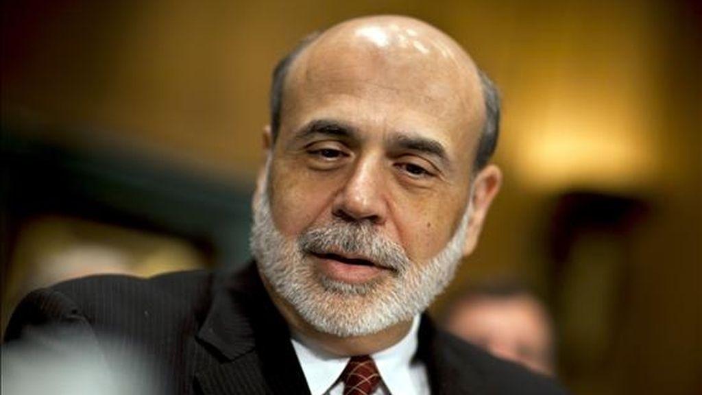 La Fed mantiene los tipos de interés entre el 0 y 0,25 por ciento y el paquete en 600.000 millones. En la imagen, el presidente de la Reserva Federal, Ben Bernanke. EFE/Archivo