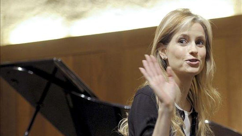 Imagen de archivo de la directora de orquesta, Inma Shara. EFE/Archivo.