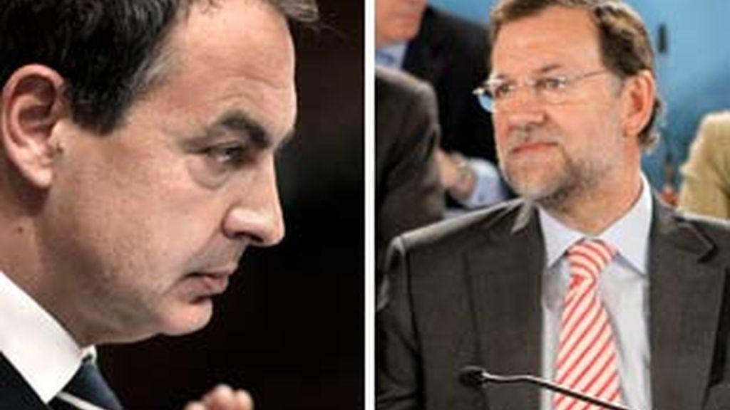 Zapatero y Rajoy se reúnen con sus grupos parlamentarios. Vídeo: ATLAS.