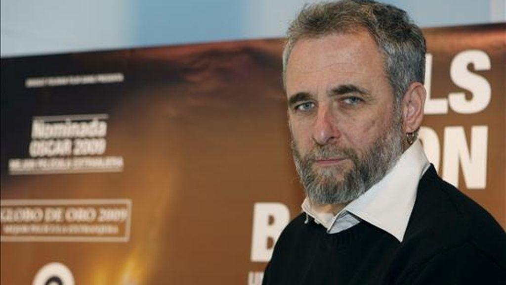 """El director israelí Ari Folman, durante la rueda de prensa que ha ofrecido tras la presentación de su película """"Vals con Bashir"""" hoy en los Cines Golem de la capital. EFE"""