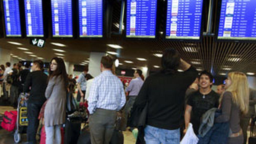 El aeropuerto de Barajas es uno de los más afectados. Foto: EFE