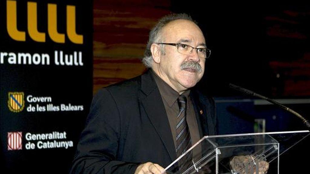 El vicepresidente de la Generalitat de Catalunya, Josep Lluís Carod Rovira, durante su intervención en el acto inaugural de la sede del Instituto Ramón Llull en las Islas Baleares. EFE