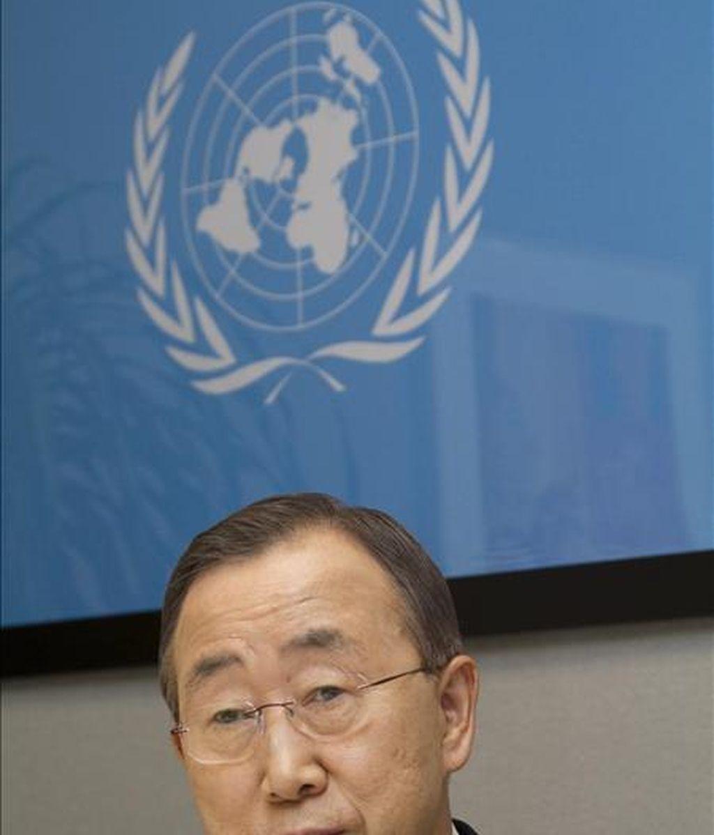"""El portavoz de Naciones Unidas, Farhan Haq, aseguró que el secretario general de la ONU, Ban Ki-moon, """"condena los atroces atentados con bombas"""" contra los espectadores que presenciaban la final del Mundial de Sudáfrica. EFE/Archivo"""