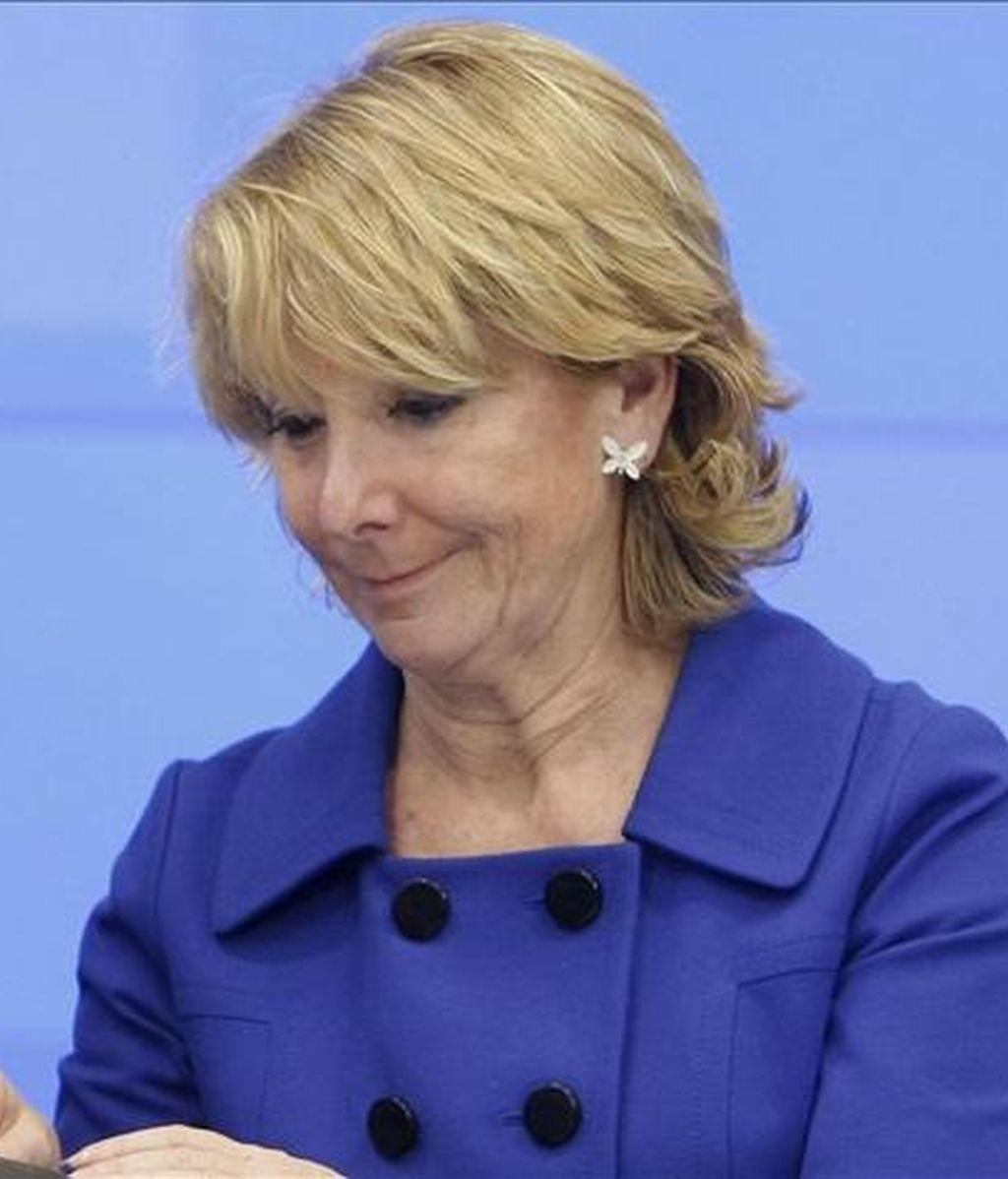 La presidenta de la Comunidad de Madrid, Esperanza Aguirre. EFE/Archivo