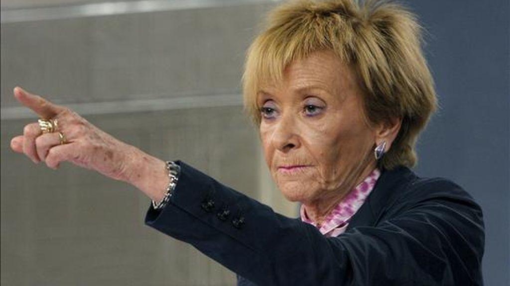 La vicepresidenta priemra del Gobierno, María Teresa Fernández de la Vega. EFE/Archivo