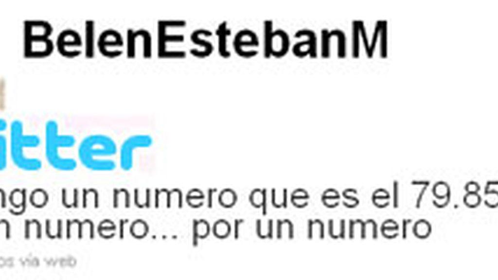 El perfil de Twitter de la Esteban