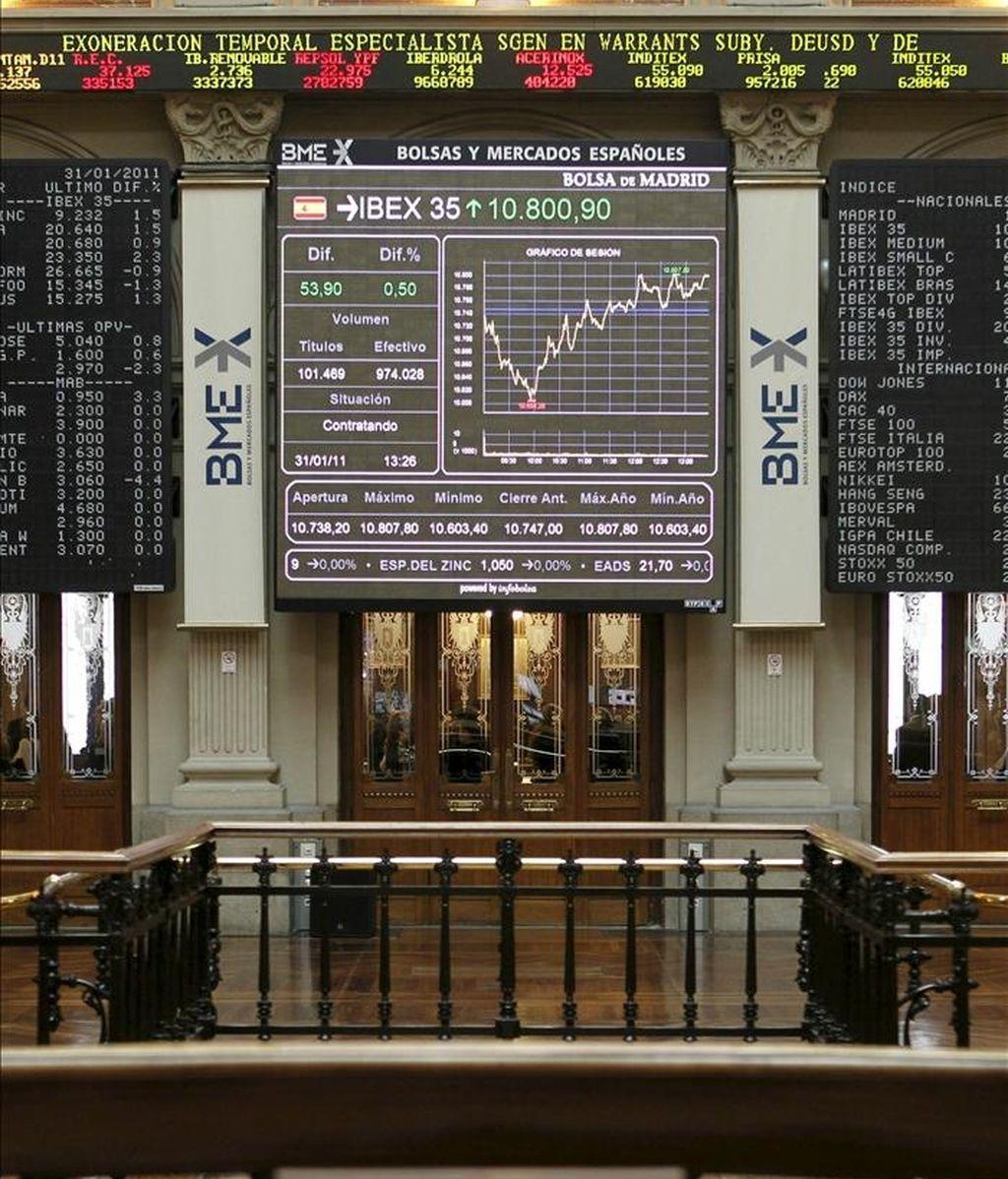 El principal indicador de la Bolsa española, el IBEX 35. EFE/Archivo