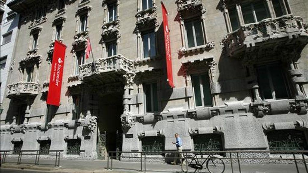 Santander Consumer Bank Italia, filial de financiación al consumo del grupo bancario español. EFE/Archivo