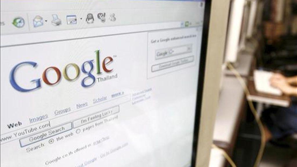 Un ordenador con el buscador Google. EFE/Archivo