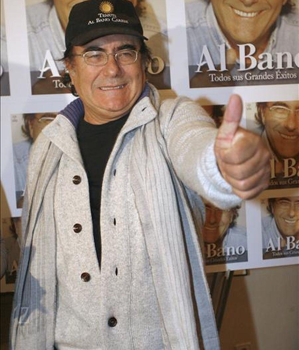 """El cantante italiano Al Bano, durante la presentación de su nuevo CD-DVD, titulado """"Todos sus grandes éxitos en español"""", en diciembre pasado, en Madrid. EFE"""