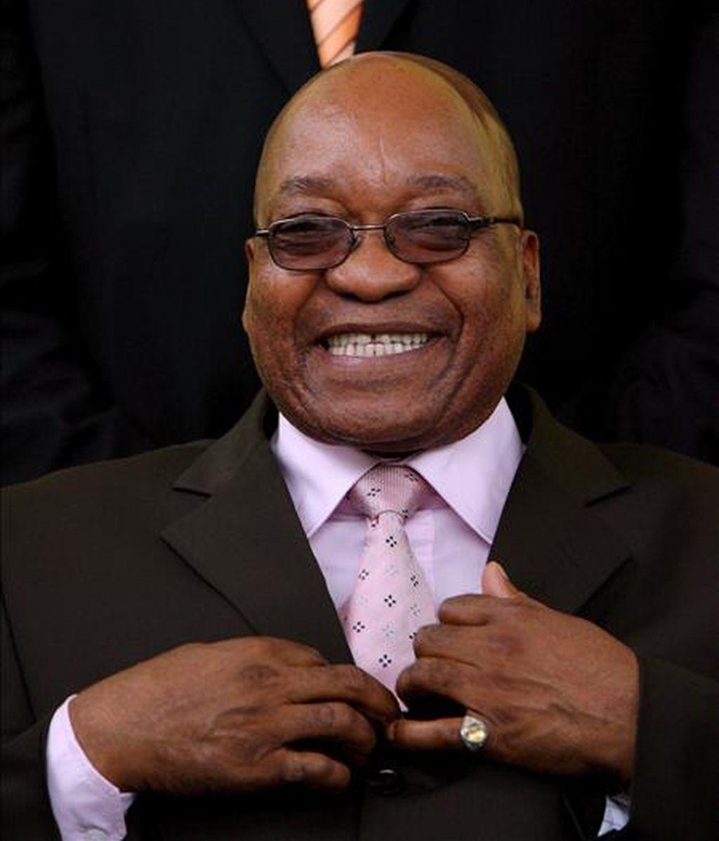 Jacob Zuma, líder del gobernante Congreso Nacional Africano (CNA) y principal candidato a la Presidencia de Sudáfrica en los comicios previstos para el próximo abril. EFE/Archivo