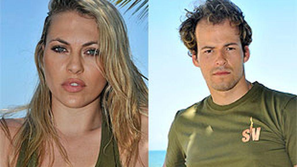 Daniela y Olfo, nominados de 'Supervivientes'.